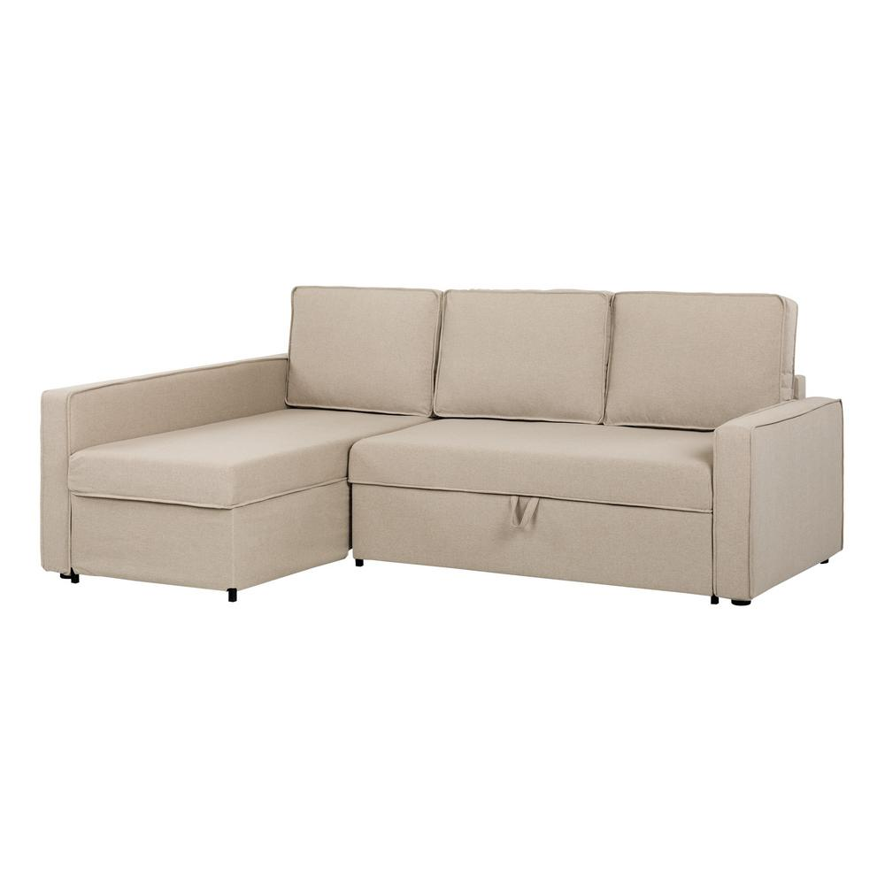 South Shore Live It Cozy 2 Piece Oatmeal Beige Sectional