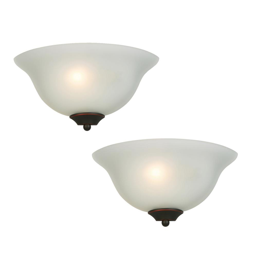 Luminosa 1 Light Oil Rubbed Bronze Wall Sconce 2 Pack