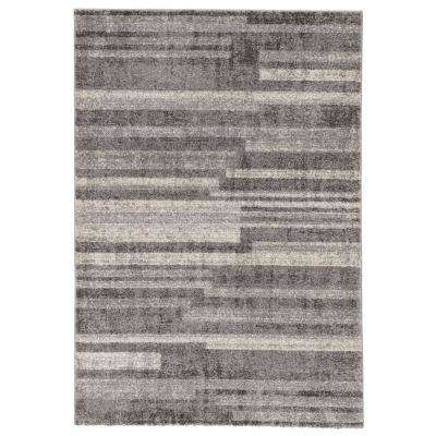 Dalton Light Gray 2 ft. x 3 ft. Geometric Rectangle Rug