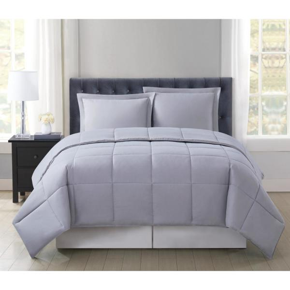 Everyday Reversible 2-Piece Grey Twin XL Comforter Set