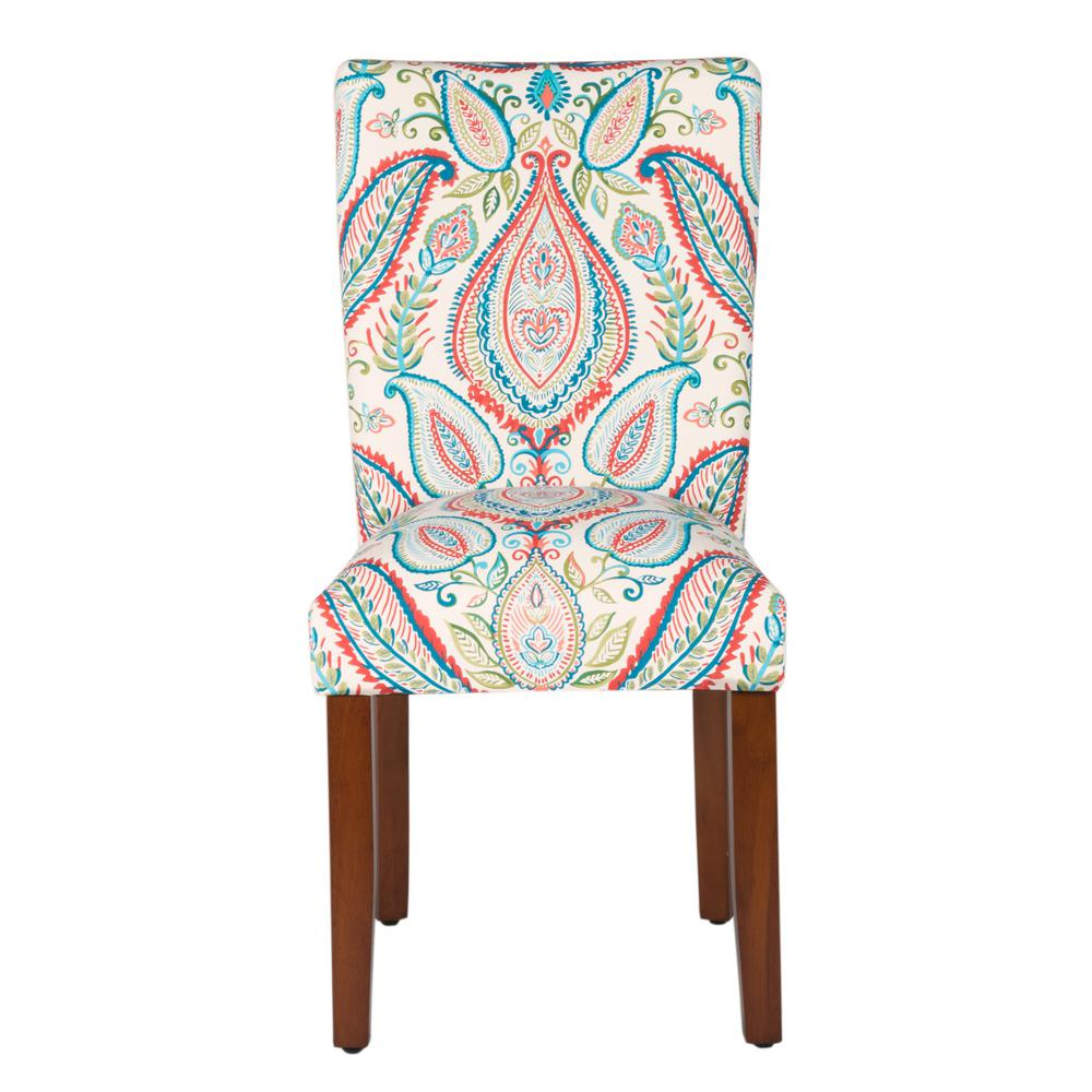 Homepop Multi Color Paisley Parson Dining Chairs