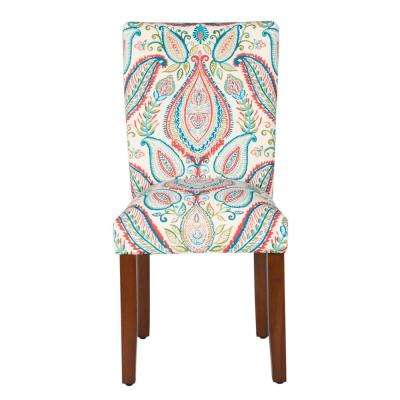 Multi-Color Paisley Parson Dining Chairs