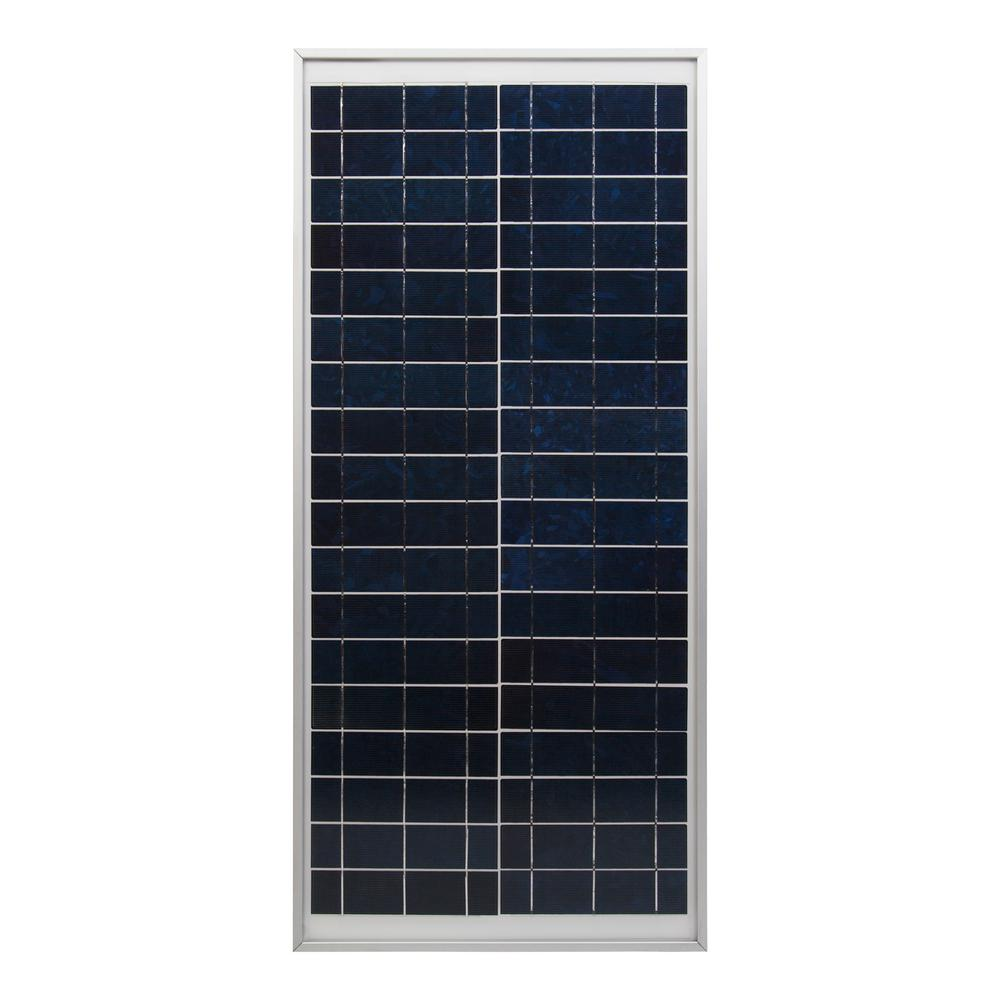 Coleman 30-Watt Polycrystalline 12-Volt Solar Panel The Coleman 30W Crystalline Solar Panel is the ideal choice for generating power in remote locations or as a part of a back-up power system.