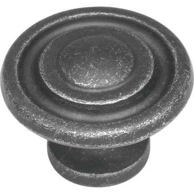 1-3/8 in. Manchester Vibra Pewter Cabinet Knob