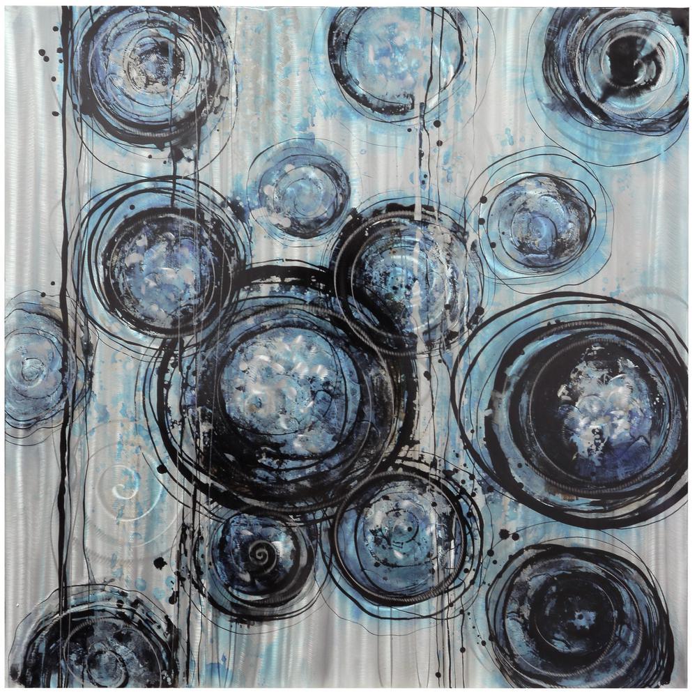 StyleCraft Contemporary Blue, Light Gray Aluminum Wall Art was $179.95 now $81.52 (55.0% off)
