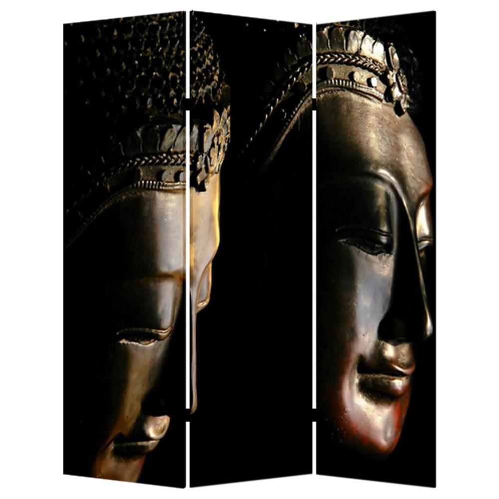 BUDDHA 6 ft Multi color 3 Panel Room Divider SG 141 The Home Depot