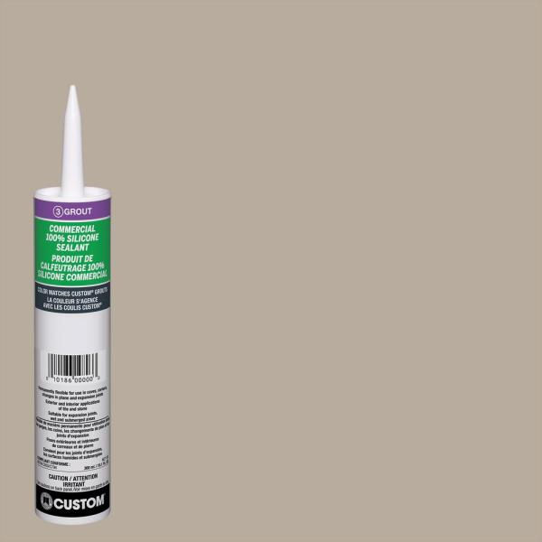Commercial #386 Oyster Gray 10.1 oz. Silicone Caulk