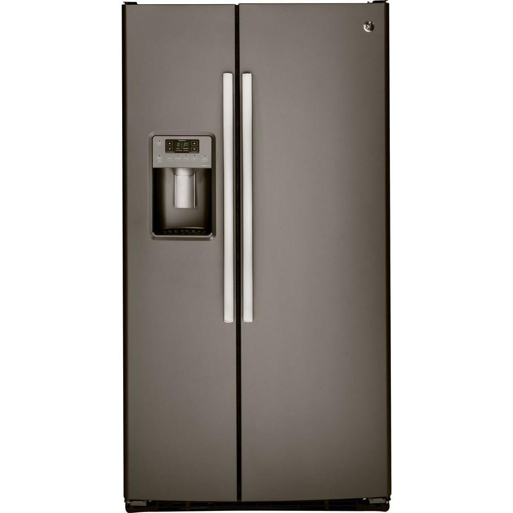 Ge Adora 25 3 Cu Ft Side By Refrigerator In Slate Fingerprint Resistant