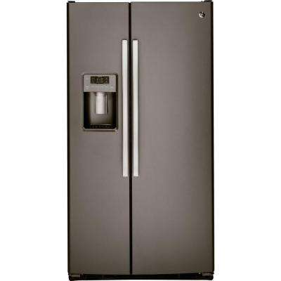 Adora 25.4 cu. ft. Side by Side Refrigerator in Slate