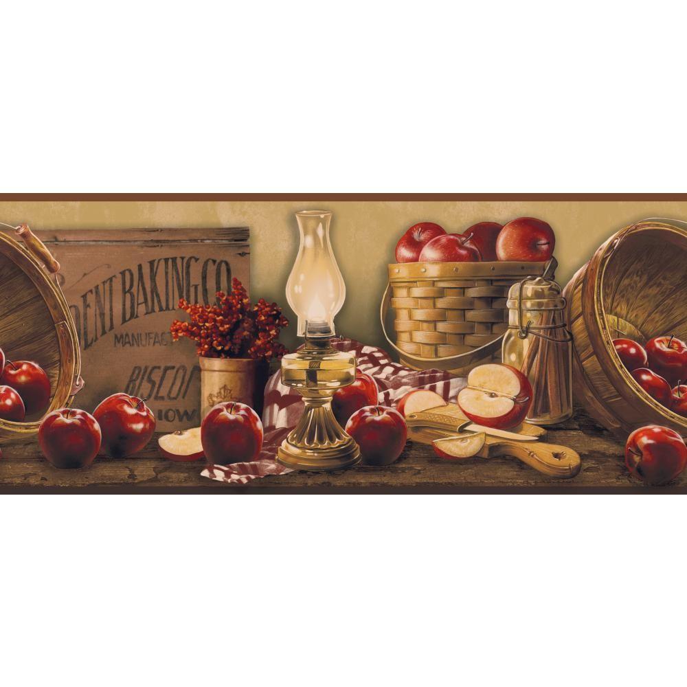 York Wallcoverings Inspired By Color Apple Basket Wallpaper Border