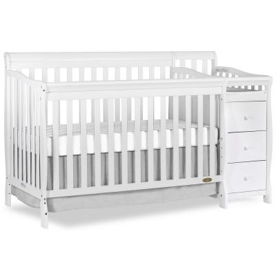 Brody White 5-in-1 Convertible Crib with Changer