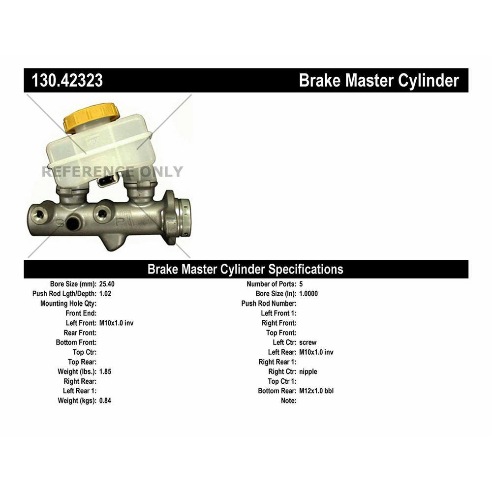 130.42335 Brake Master Cylinder Centric
