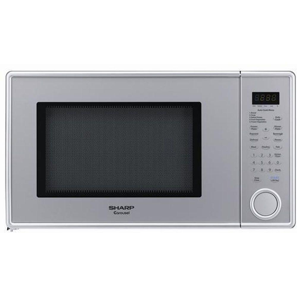 Sharp 1.3 cu. ft. Countertop Microwave in Pearl Silver-DISCONTINUED