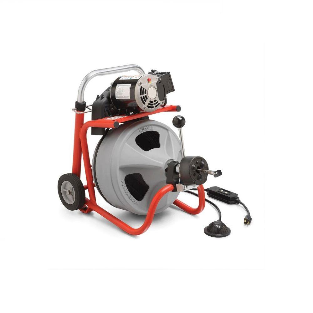 RIDGID K-400AF with C-45 IW Drum Machine for 1-1/2 in. to 4 in. Drain Lines