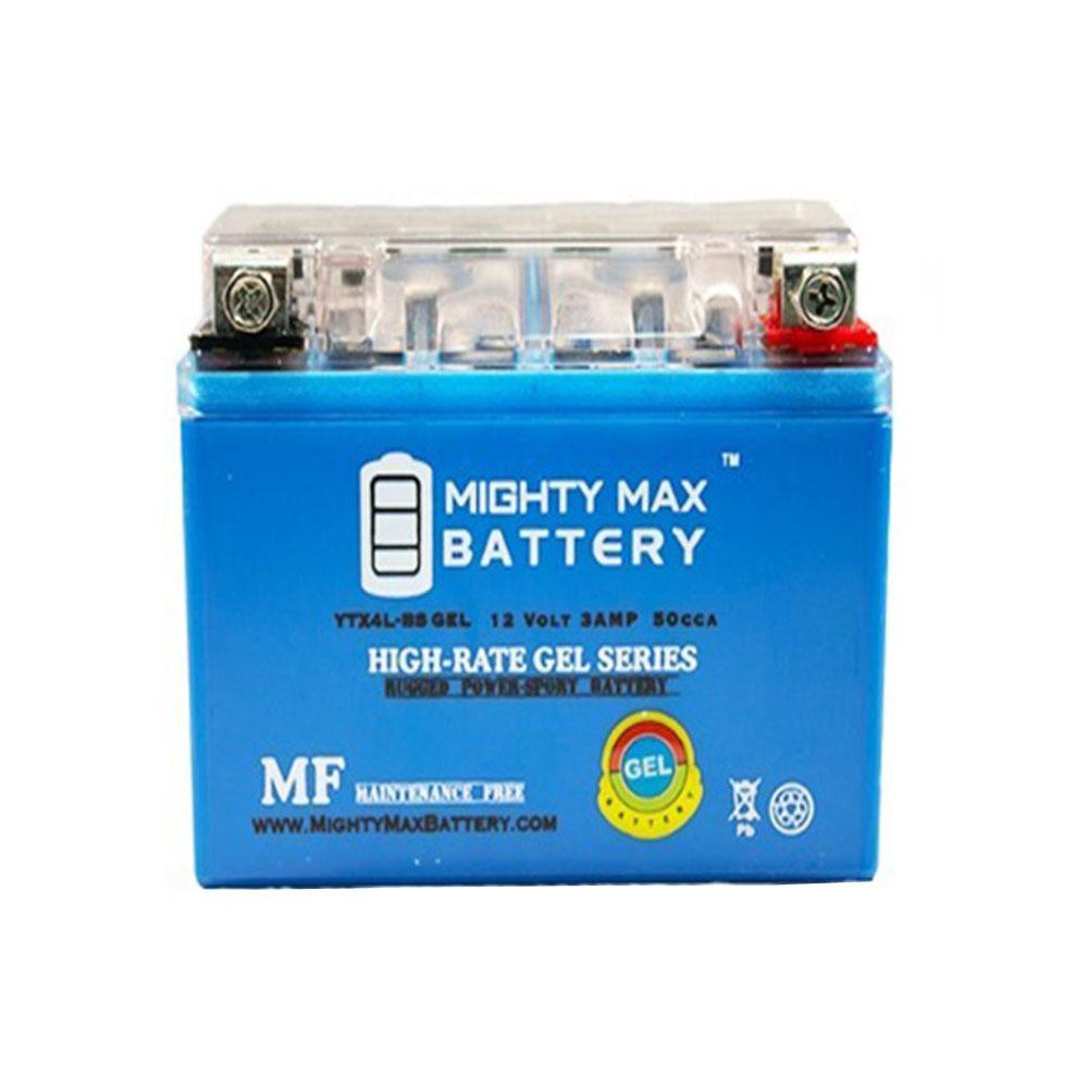 12-Volt 3 Ah 50 CCA GEL Sealed Lead Acid (SLA) Powersport Battery