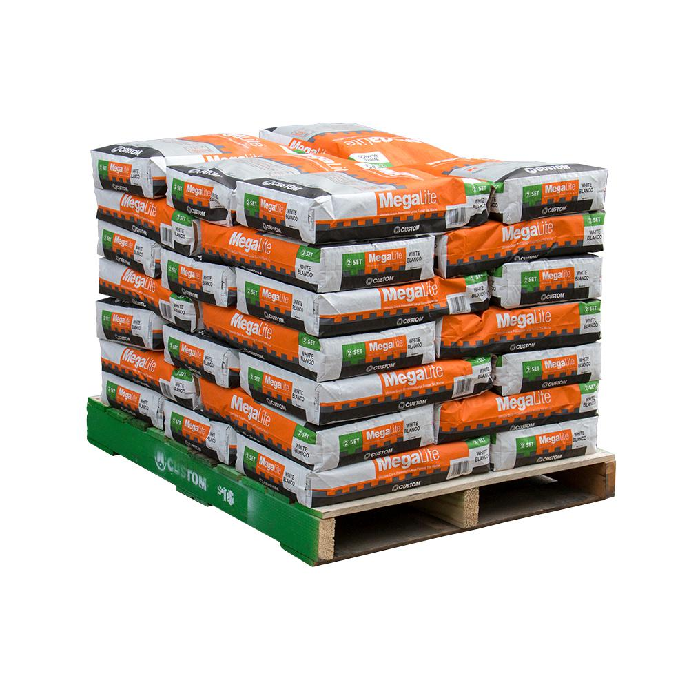 Custom Building Products MegaLite 30 lb. White Crack Prevention Mortar (35 Bags/ 3,500 sq. ft. / pallet)