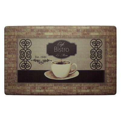 Cafe Bistro 20 in. x 32 in. Extra Thick Premium Anti-Fatigue Kitchen Mat