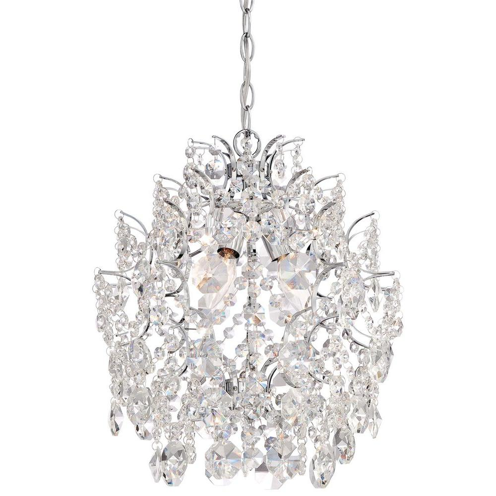 Minka lavery 3 light chrome mini chandelier 3150 77 the home depot minka lavery 3 light chrome mini chandelier aloadofball Images