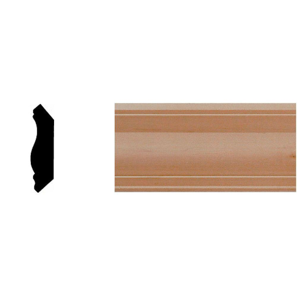 House of Fara 9/16 in. x 2-1/4 in. x 8 ft. Cherry Crown Moulding-DISCONTINUED