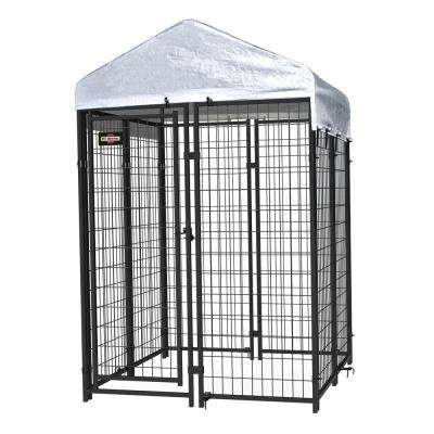 6 ft. x 4 ft. x 4 ft. Welded Wire Boxed Kennel Kit with Anchor and Cover