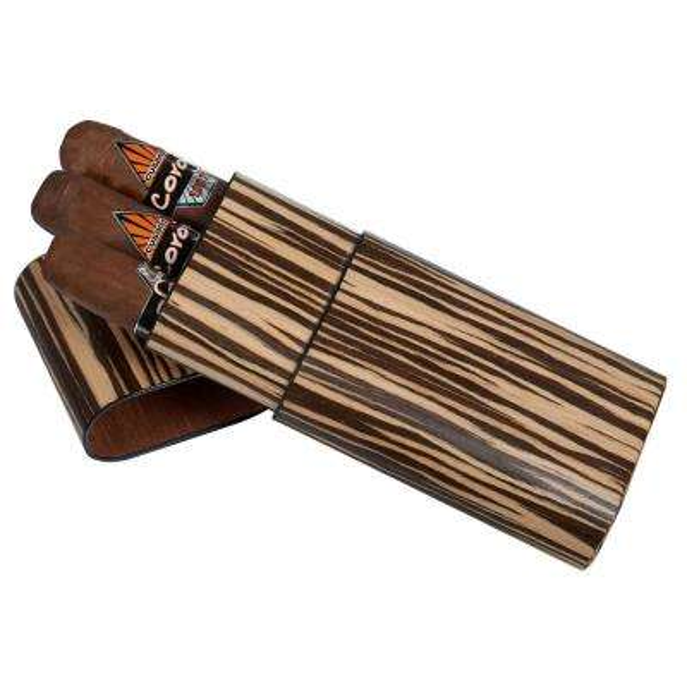 Sawyer Zebrawood Cigar Case - 3 Cigars