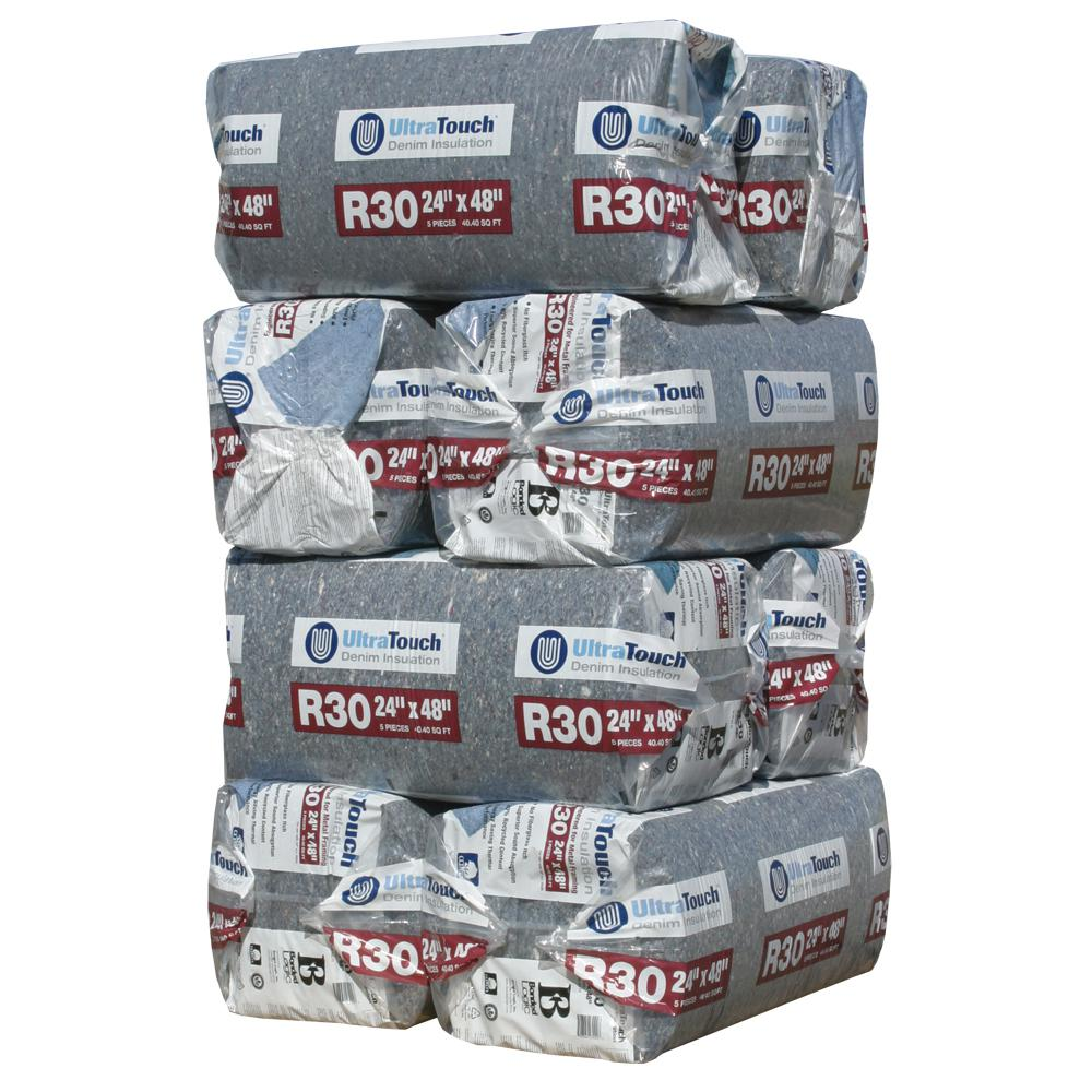 UltraTouch R-30 Denim Insulation Batts 24.25 in. x 48 in. (8-Bags)