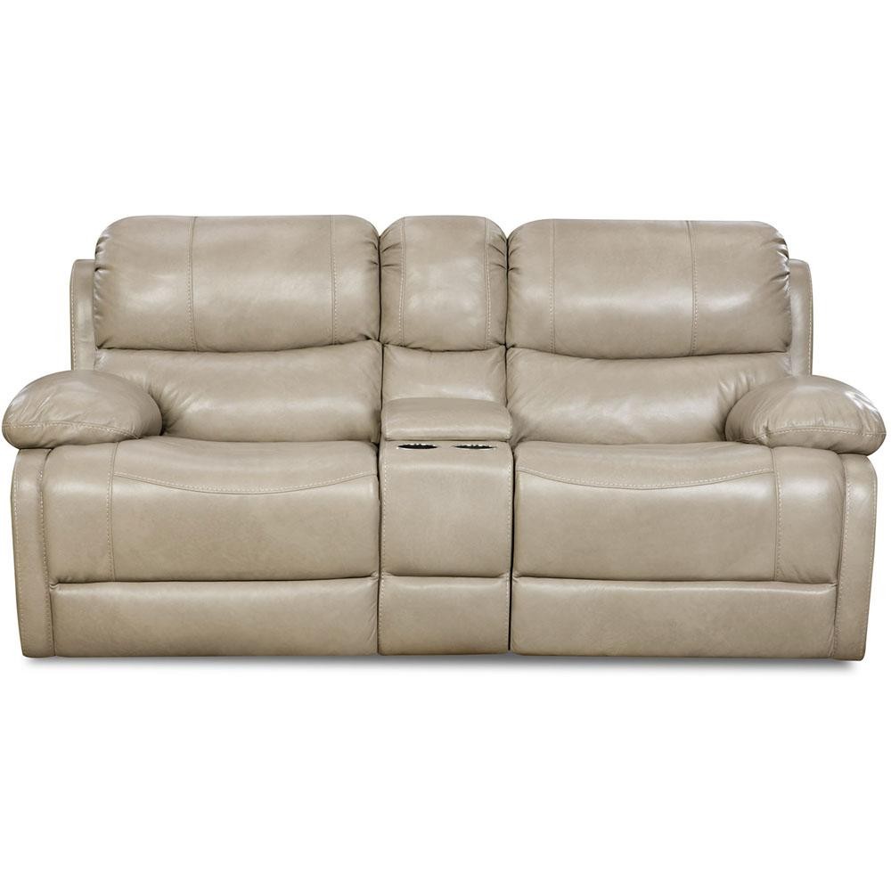 Austin Leather Putty Double Reclining Loveseat