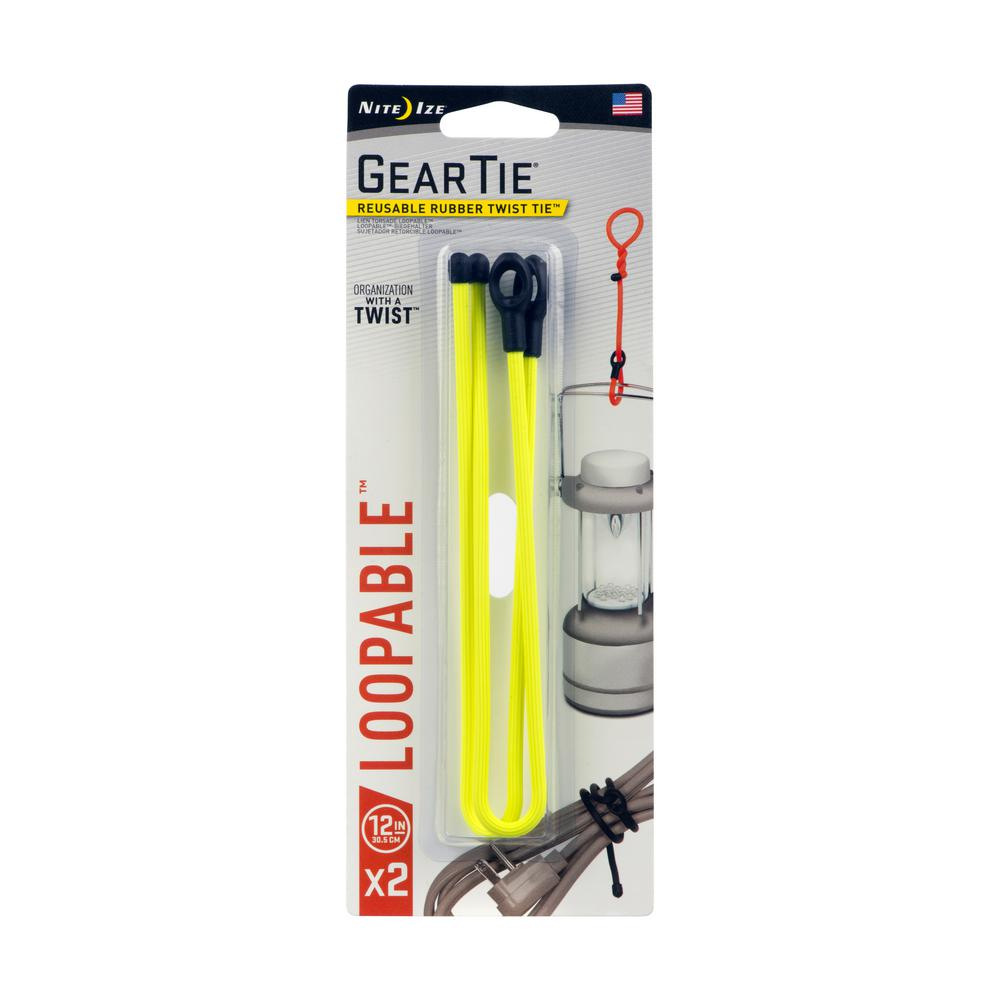 Nite Ize 12 In Gear Tie Loopable Neon Yellow 2 Pack Gls12 33 2r7 The Home Depot
