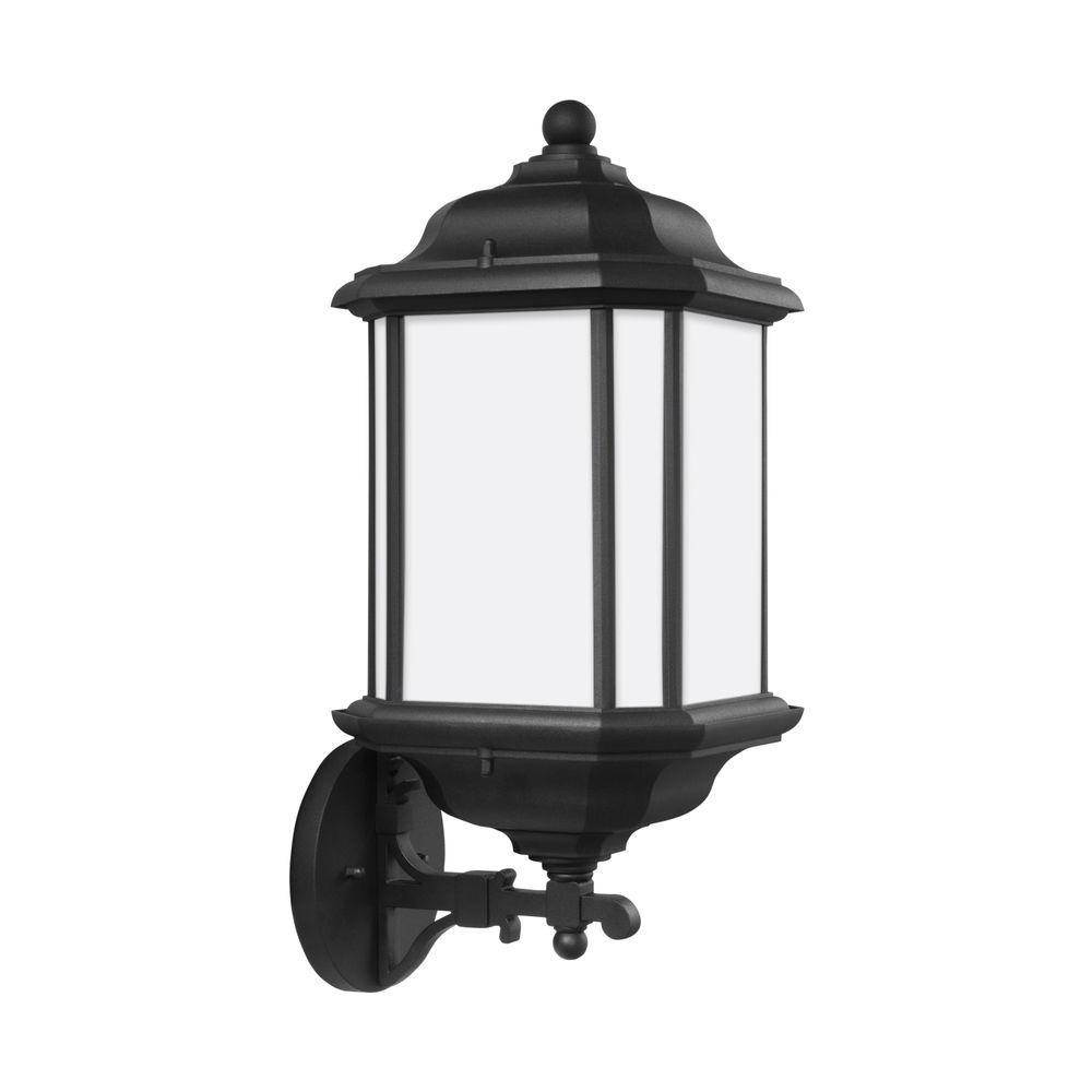 Kent large 1 light black outdoor 19 25 in wall mount lantern