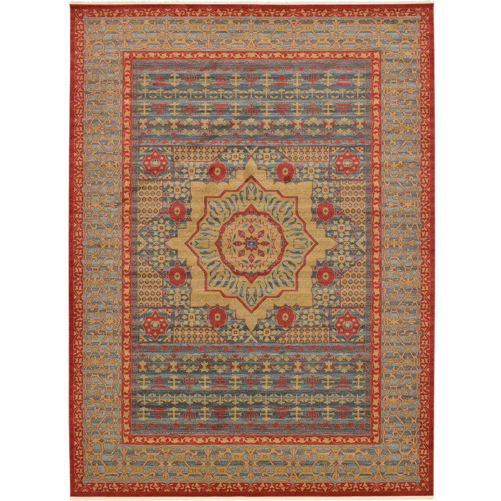 Palace Navy Blue 13 ft. x 18 ft. Area Rug
