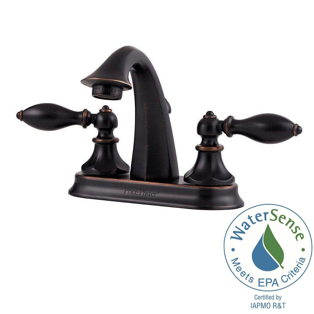 Pfister Pasadena 4 in. Centerset 2-Handle Bathroom Faucet in Tuscan ...