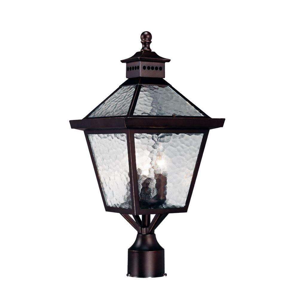 Acclaim Lighting Bay Street 3-Light Architectural Bronze Outdoor Post-Mount Fixture