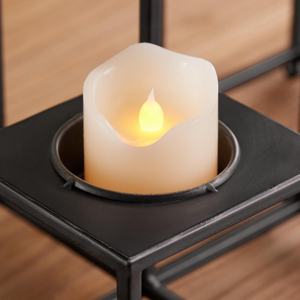 StyleWell Black Metal Multi-Level Tealight Candle Holder