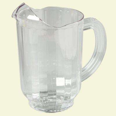 60 oz., 8.25 in. Tall Polycarbonate Pitcher in Clear (Case of 6)