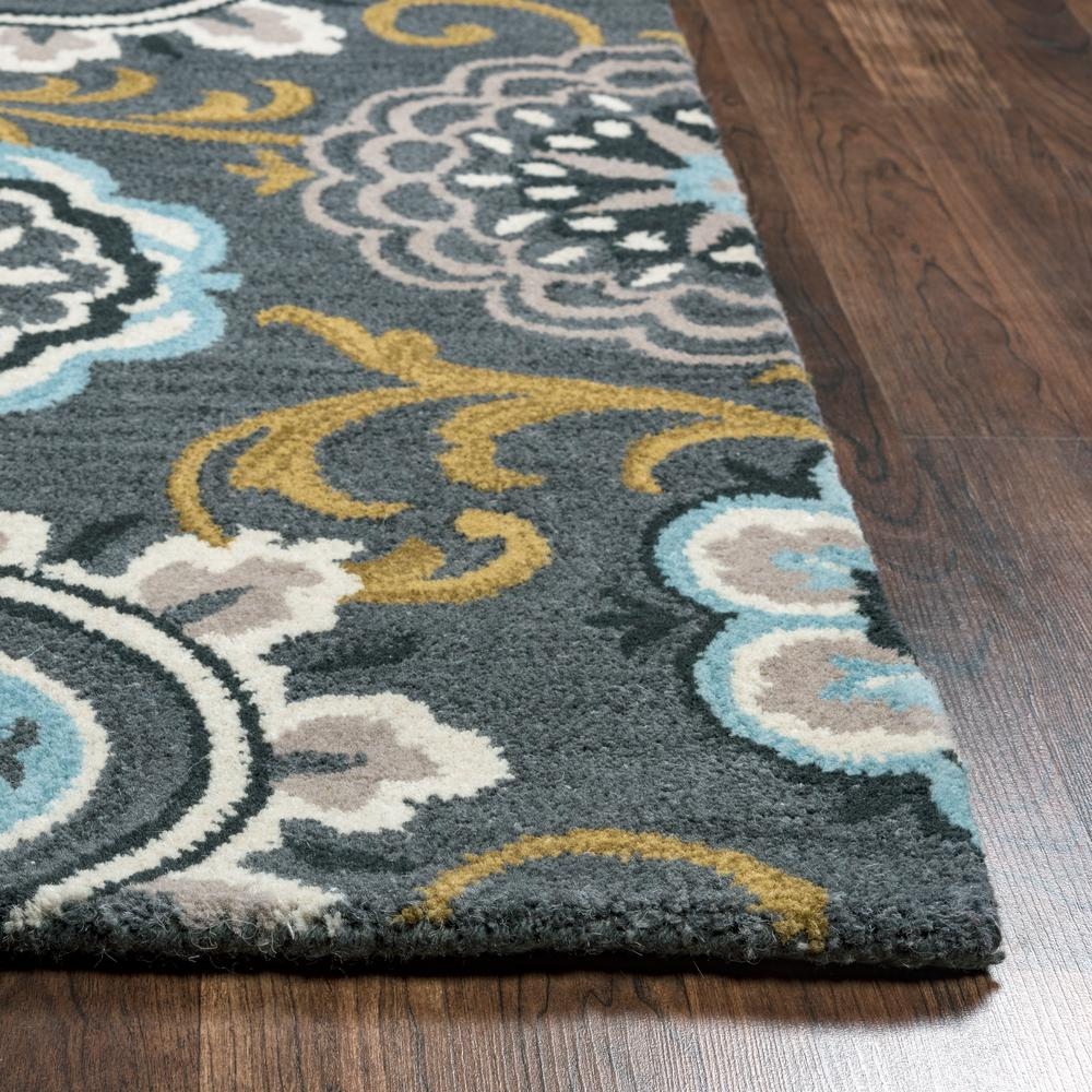 12x12 area rug rizzy home valintino grey blue floral medallion 28846
