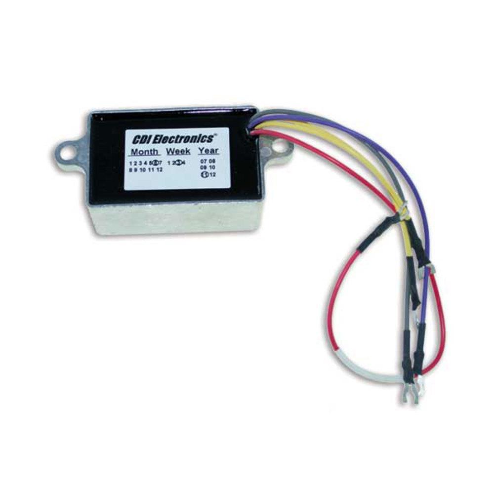 CDI Electronics Johnson/Evinrude Voltage Regulator 2/3/4 Cyl 10 Amp  (1992-2005)