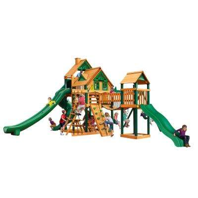 Treasure Trove II Treehouse Cedar Swing Set with Timber Shield Posts
