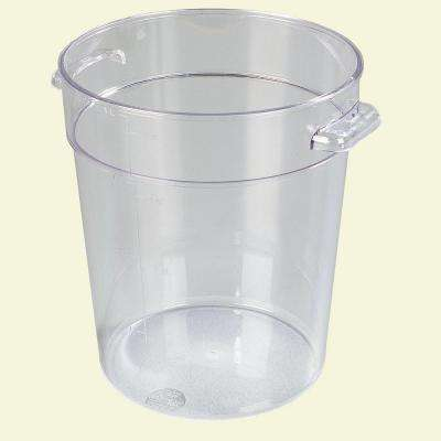 4 qt. Polycarbonate Round Storage Container in Clear (Case of 12)