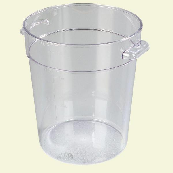 Carlisle 4 qt. Polycarbonate Round Storage Container in Clear (Case of