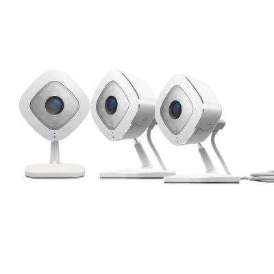 Indoor 1080p Wi-Fi Security Camera White/Black (3-Pack)