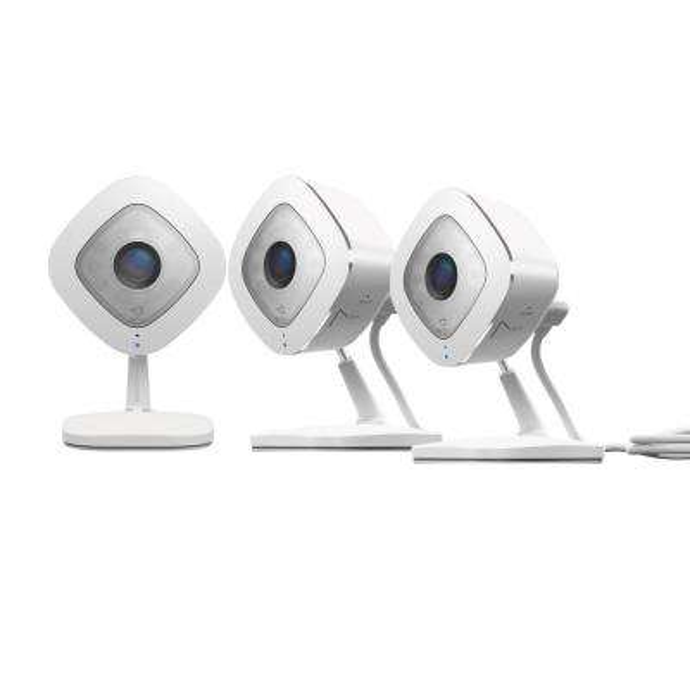 Indoor 1080p Wi-Fi Security Camera White/Black (3-Pack)