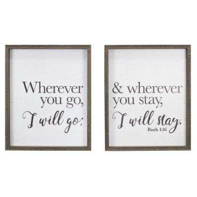 """""""Where You Go"""" Duo by KDM Framed Printed Wall Art"""