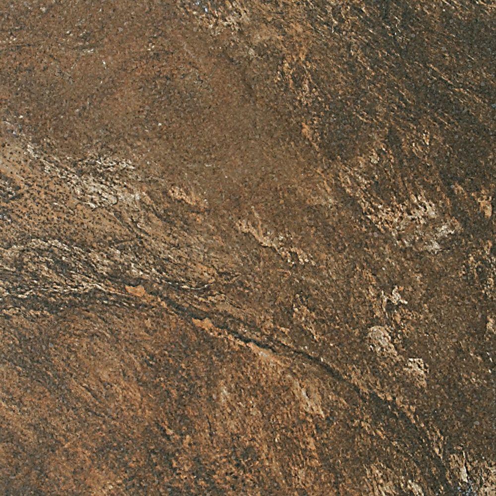 Daltile Franciscan Slate Terrain Marrone 18 in. x 18 in. Glazed Porcelain Floor and Wall Tile (13.31 sq. ft. / case)