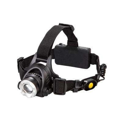 Ultra HD Series Battery Powered 320 Lumens Headlamp with Safety Flasher in Black