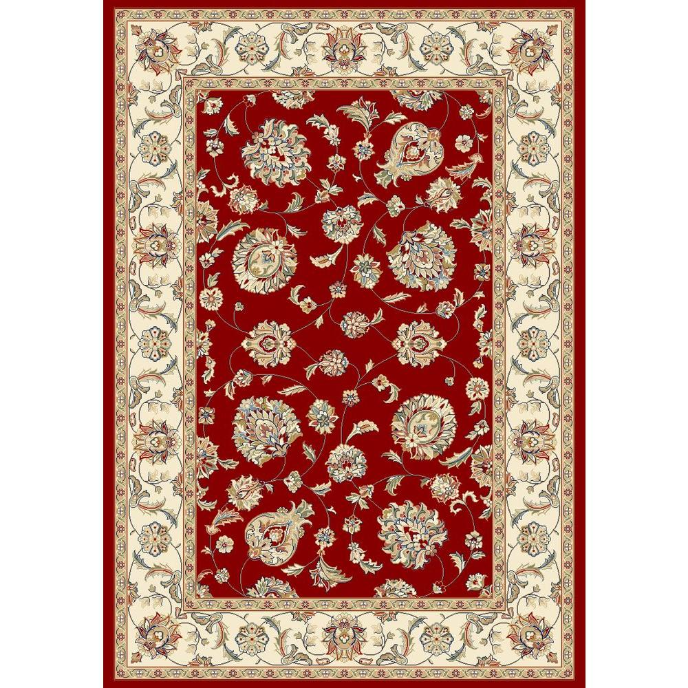Judith Red/Ivory 5 ft. 3 in. x 7 ft. 7 in.