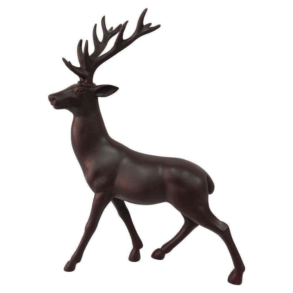 Standing Reindeer Matte Brown