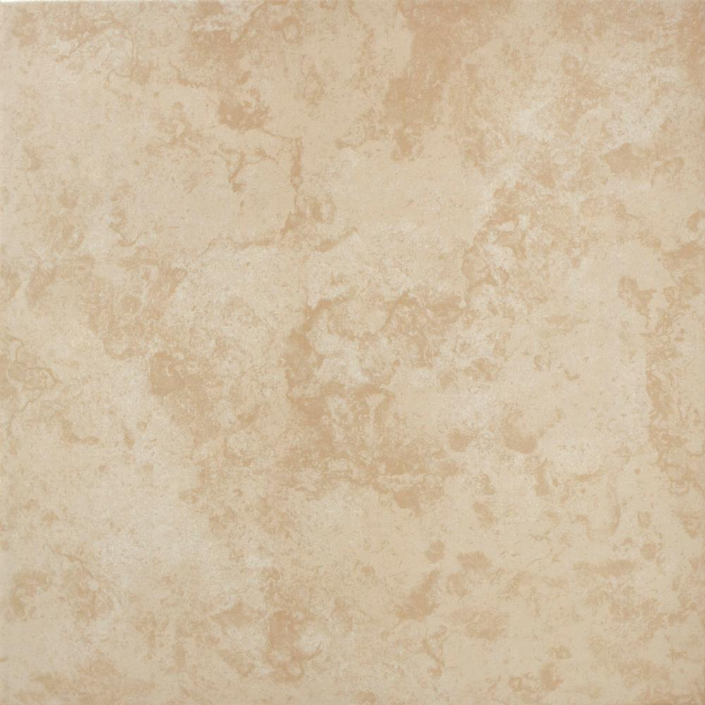 Vitromex Sand Beige 16 in. x 16 in. Ceramic Floor and Wall Tile ...