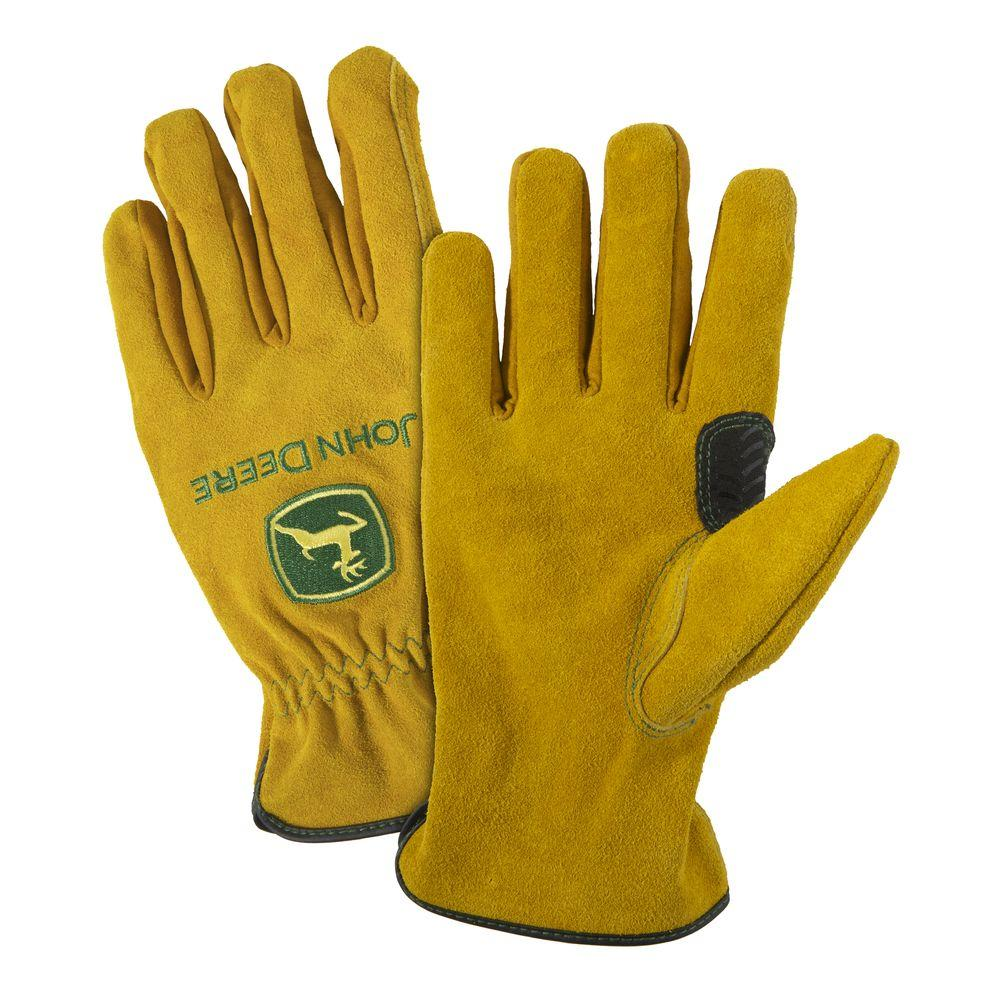 John Deere Split Cowhide Medium Driver Gloves