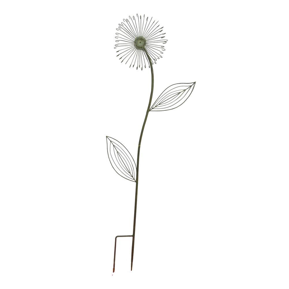 36 in. Sage Green Dandelion Metal Garden Stake