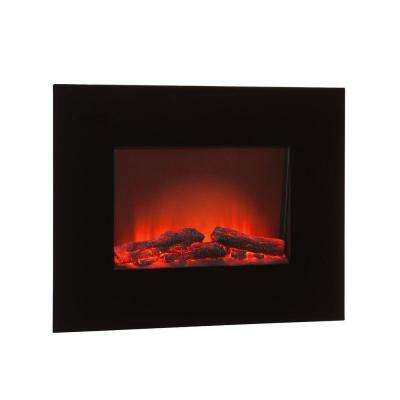 Vincent 26 in. Wall-Mount Electric Fireplace in Black